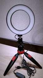 Кольцевая LED лампа 16 см   НАСТОЛЬНЫЙ ТРИПОД